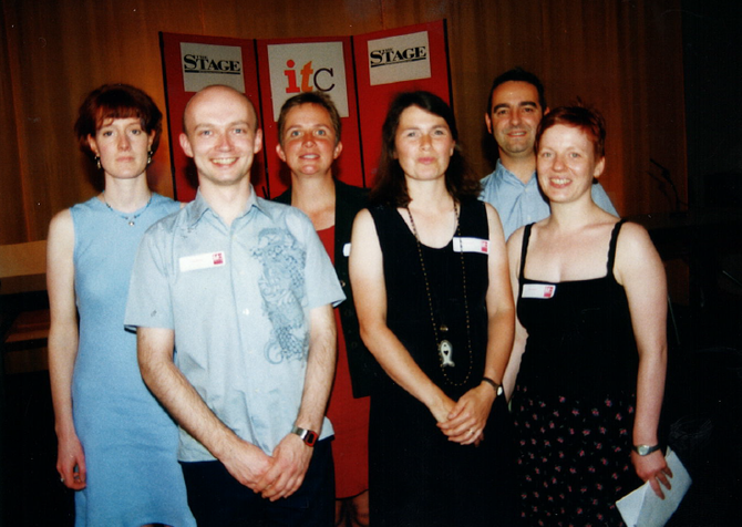 Nicola with her staff team at ITC's 25th Birthday party in 1999